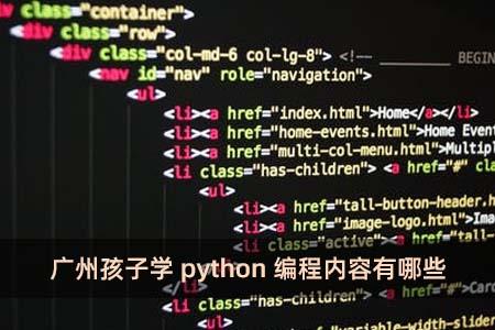广州孩子学python编程内容有哪些