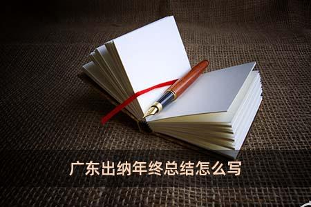 广东出纳年终总结怎么写