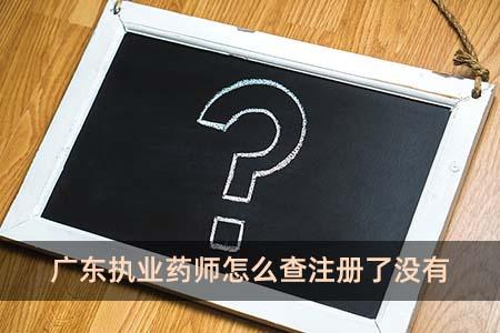 广东执业药师怎么查注册了没有