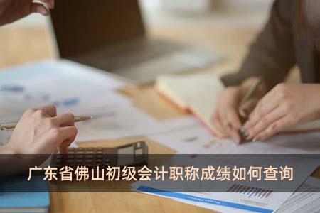 广东省佛山初级会计职称成绩如何查询