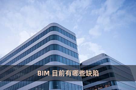 BIM目前有哪些缺陷