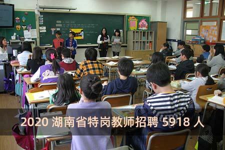 2020湖南省特岗教师招聘5918人