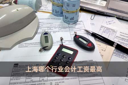 上海哪个行业会计工资最高