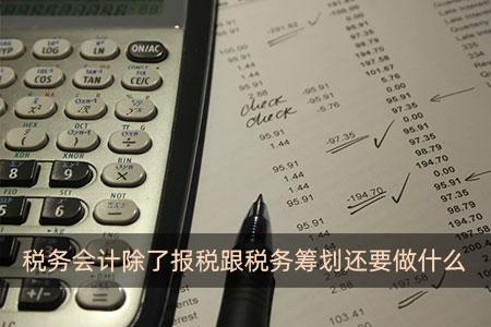 税务会计除了报税跟税务筹划还要做什么