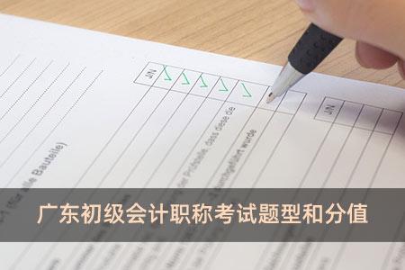 广东初级会计职称考试题型和分值