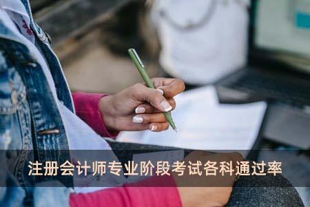 注册会计师专业阶段考试各科通过率