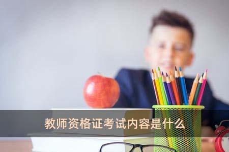 教師資格證考試內容是什么