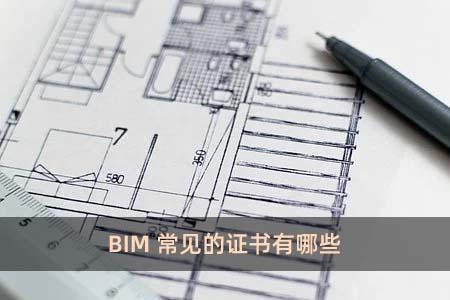 BIM常見的證書有哪些