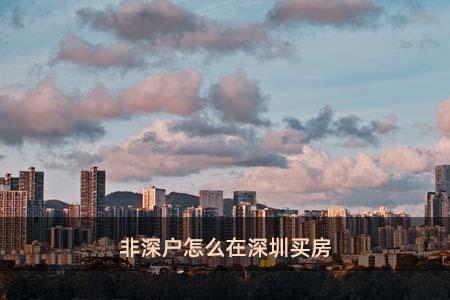 非深户怎么在深圳买房